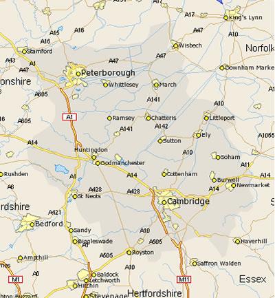 areas covered in Cambridgeshire